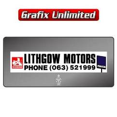 Dealership Decal, Lithgow Motors