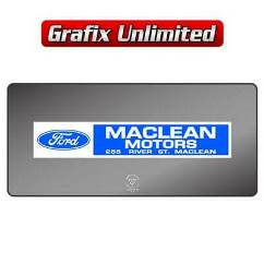 Dealership Decal, Maclean Motors