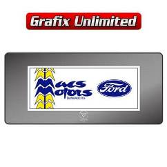 Dealership Decal, Macs Motors Bundaberg