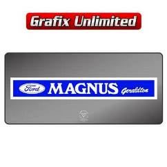 Dealership Decal, Magnus Geraldton
