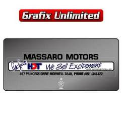 Dealership Decal, Massaro Motors