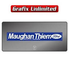 Dealership Decal, Maughan Thiem Ford