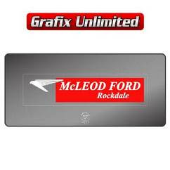 Dealership Decal, McLeod Ford Rockdale