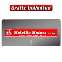 Dealership Decal, Melville Motors