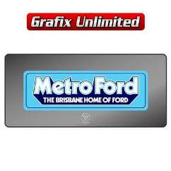 Dealership Decal, Metro Ford Brisbane