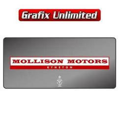 Dealership Decal, Mollison Motors Kyneton
