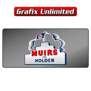 Dealership Decal, Muirs for Holden External