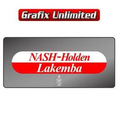 Dealership Decal, Nash Holden Lakemba