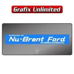 Dealership Decal, Nu Brent Ford