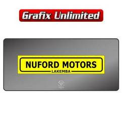 Dealership Decal, Nuford Motors 1967 - 1968