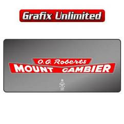 Dealership Decal, O.G. Roberts Mount Gambier