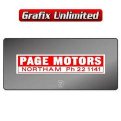 Dealership Decal, Page Motors Ford