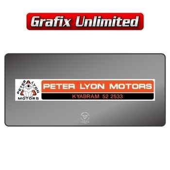 Dealership Decal, Peter Lyon Motors