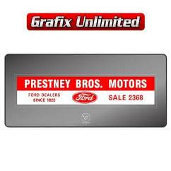 Dealership Decal, Prestney Bros Motors