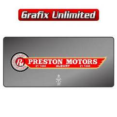 Dealership Decal, Preston Motors Commodore Gemini