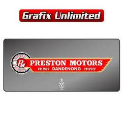 Dealership Decal, Preston Motors Dandenong