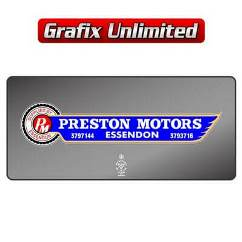 Dealership Decal, Preston Motors Essendon
