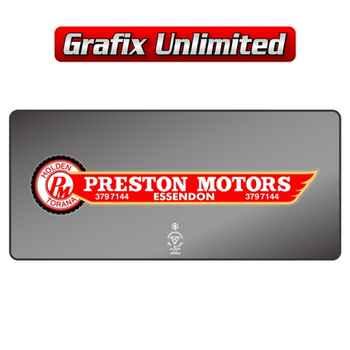 Dealership Decal, Preston Motors Essendon Torana