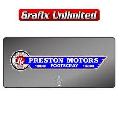 Dealership Decal, Preston Motors Footscray