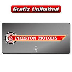 Dealership Decal, Preston Motors Torana