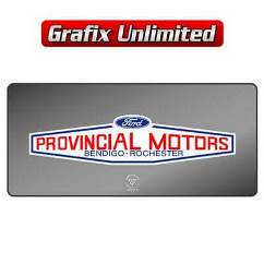 Dealership Decal, Provincial Motors