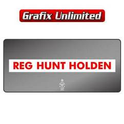 Dealership Decal, Reg Hunt Holden