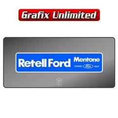 Dealership Decal, Retell Ford