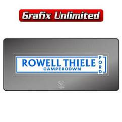 Dealership Decal, Rowell Thiele Ford