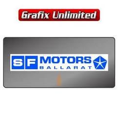 Dealership Decal, SF Motors Ballarat