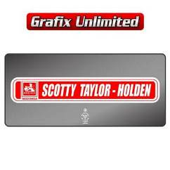 Dealership Decal, Scotty Taylor Holden
