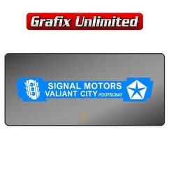 Dealership Decal, Signal Motors