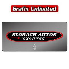 Dealership Decal, Slorach Autos Hamilton