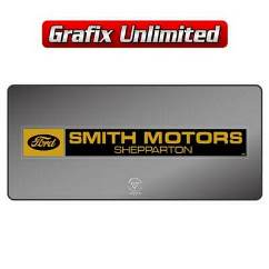 Dealership Decal, Smiths Motors Shepparton