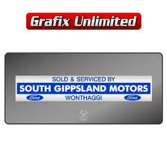 Dealership Decal, South Gippsland Motors