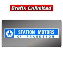 Dealership Decal, Station Motors