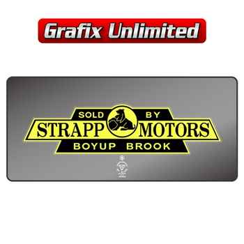 Dealership Decal, Strapp Motors Boyup Brook
