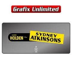 Dealership Decal, Sydney Atkinsons Holden