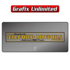 Dealership Decal, Tilford Motors
