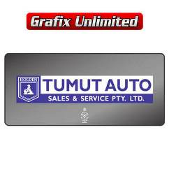 Dealership Decal, Tumut Auto Sales & Service Pty Ltd