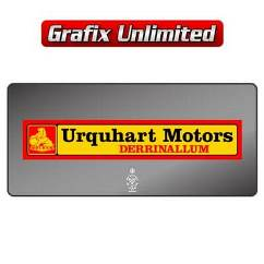 Dealership Decal, Urquhart Motors Derrinallum