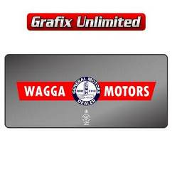 Dealership Decal, Wagga Motors