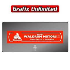 Dealership Decal, Waldron Motors Charleville