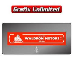 Dealership Decal, Waldron Motors Roma