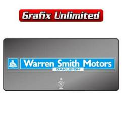 Dealership Decal, Warren Smith Motors