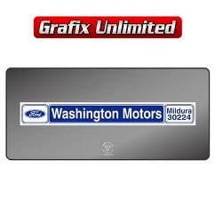 Dealership Decal, Washington Motors
