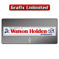 Dealership Decal, Watson Holden Bundoora