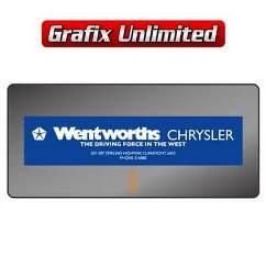 Dealership Decal, Wentworths Chrysler