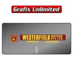 Dealership Decal, Westerfield Motors