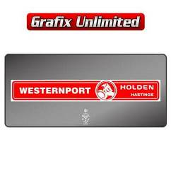 Dealership Decal, Westernport Holden