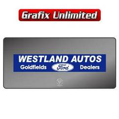 Dealership Decal, Westland Autos